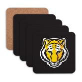 Hardboard Coaster w/Cork Backing 4/set-Tiger Head