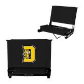 Stadium Chair Black-D w/ Tiger Head