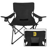 Deluxe Black Captains Chair-D w/ Tiger Head