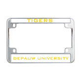 Metal Motorcycle License Plate Frame in Chrome-Tigers