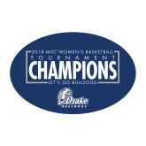 Medium Decal-2018 Womens Basketball Tournament Champions