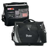 Slope Black/Grey Compu Messenger Bag-Drake University