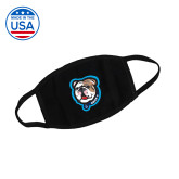 USA Made Black 3 Ply Cotton Mask-Griff II