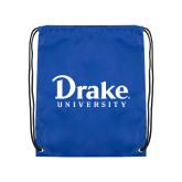 Royal Drawstring Backpack-Drake University