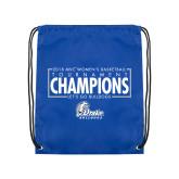 Royal Drawstring Backpack-2018 Womens Basketball Tournament Champions