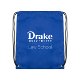 Royal Drawstring Backpack-Law School