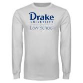 White Long Sleeve T Shirt-Law School