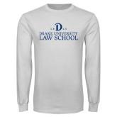 White Long Sleeve T Shirt-1865 Drake Law School