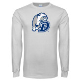 White Long Sleeve T Shirt-D Dog