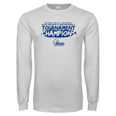 White Long Sleeve T Shirt-2018 Womens Basketball Tournament Champions