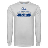 White Long Sleeve T Shirt-2019 Mens Basketball Regular Season Champions