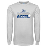 White Long Sleeve T Shirt-2019 Womens Regular Season Basketball Champions