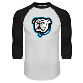 White/Black Raglan Baseball T Shirt-Griff