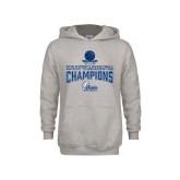 Youth Grey Fleece Hood-2018 Womens Basketball Tournament Champions