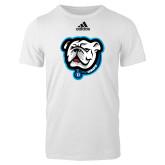 Adidas White Logo T Shirt-Griff