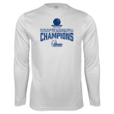 Performance White Longsleeve Shirt-2018 Womens Basketball Tournament Champions
