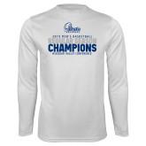 Performance White Longsleeve Shirt-2019 Mens Basketball Regular Season Champions