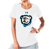 Ladies Under Armour White Charged Cotton Tee-Griff