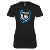 Next Level Ladies SoftStyle Junior Fitted Black Tee-Griff II