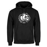 Black Fleece Hoodie-Bulldog Head