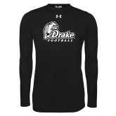Under Armour Black Long Sleeve Tech Tee-Drake Football