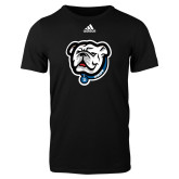 Adidas Black Logo T Shirt-Griff