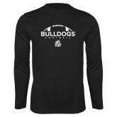 Performance Black Longsleeve Shirt-Bulldogs Football