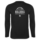 Performance Black Longsleeve Shirt-Bulldogs Volleyball