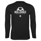 Performance Black Longsleeve Shirt-Bulldogs Soccer