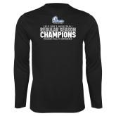 Performance Black Longsleeve Shirt-2019 Mens Basketball Regular Season Champions