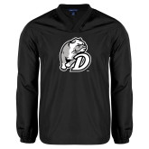 V Neck Black Raglan Windshirt-D Dog