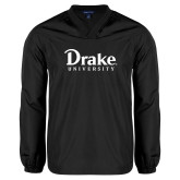 V Neck Black Raglan Windshirt-Drake University