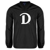 V Neck Black Raglan Windshirt-Drake D Logo
