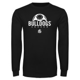 Black Long Sleeve T Shirt-Bulldogs Soccer