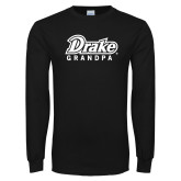 Black Long Sleeve T Shirt-Drake Grandpa