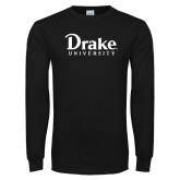 Black Long Sleeve T Shirt-Drake University
