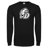 Black Long Sleeve T Shirt-D Dog