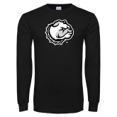 Black Long Sleeve T Shirt-Bulldog Head