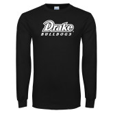Black Long Sleeve T Shirt-Athletic Wordmark