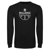 Black Long Sleeve T Shirt-Bulldogs Basketball