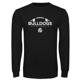 Black Long Sleeve T Shirt-Bulldogs Football
