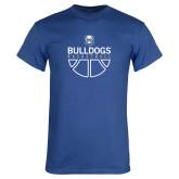 Royal T Shirt-Bulldogs Basketball