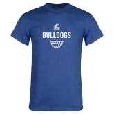 Royal T Shirt-Bulldogs Basketball Net
