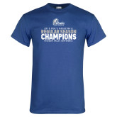 Royal T Shirt-2019 Mens Basketball Regular Season Champions
