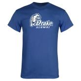 Royal T Shirt-Drake Alumni w Bulldog