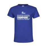 Youth Royal T Shirt-2019 Womens Regular Season Basketball Champions
