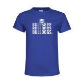 Youth Royal T Shirt-Bulldogs Repeating