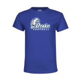 Youth Royal T Shirt-Drake Football