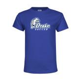 Youth Royal T Shirt-Drake Soccer
