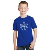 Youth Royal T Shirt-Bulldogs Basketball